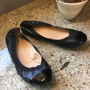 Cole Han Black, Patent Elbrige Ballet Flats
